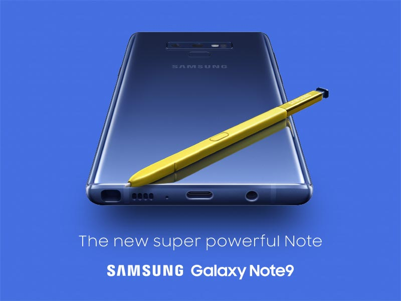 POST - Samsung Galaxy Note9 - Réservation